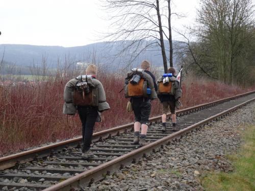 unterwegs auf einer Draisinenstrecke